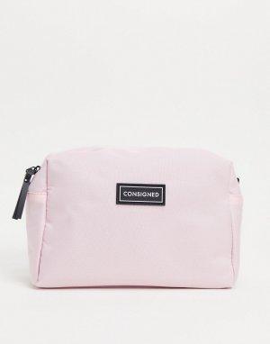Светло-розовая косметичка -Розовый цвет Consigned