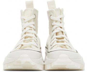 Off-White Marble Run Star Hike High Sneakers Converse. Цвет: egret/white