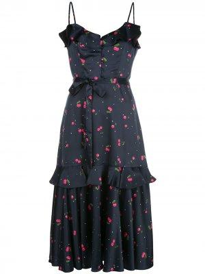 Платье миди с принтом Milly. Цвет: синий