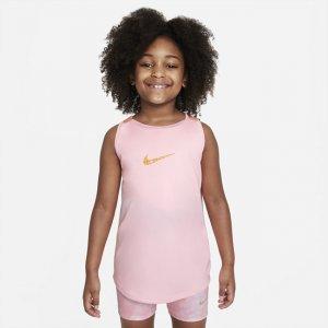Майка для тренинга девочек школьного возраста Dri-FIT Elastika - Розовый Nike