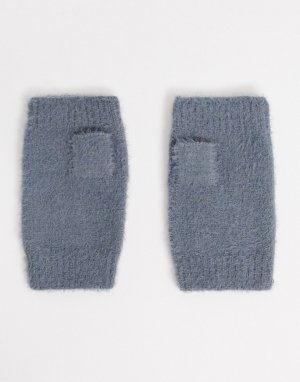 Серые вязаные митенки zola-Серый Boardmans
