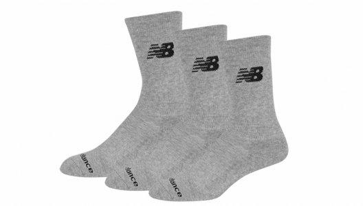 Носки PERFORMANCE COTTON CUSHIONED CREW SOCKS 3 PAIR New Balance. Цвет: серый