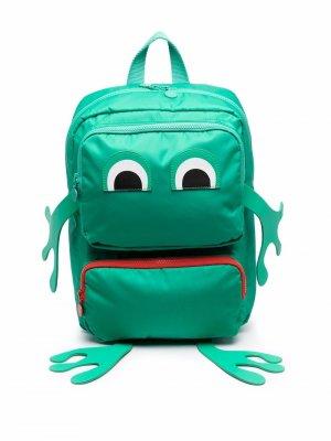 Рюкзак Frog прямоугольной формы Stella McCartney Kids. Цвет: зеленый