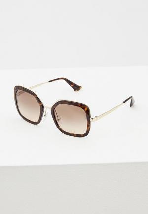 Очки солнцезащитные Prada PR 57US 2AU3D0. Цвет: коричневый
