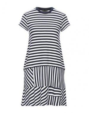 Короткое платье ATM ANTHONY THOMAS MELILLO. Цвет: темно-синий