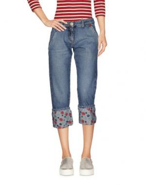 Джинсовые брюки-капри ICE B ICEBERG. Цвет: синий