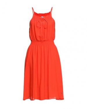 Платье до колена FLY GIRL. Цвет: оранжевый