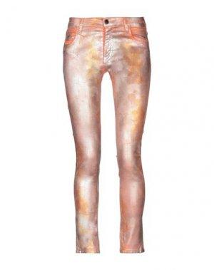 Джинсовые брюки 75 FAUBOURG. Цвет: оранжевый