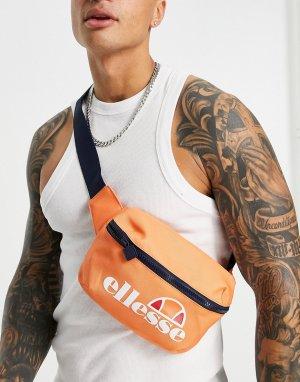 Оранжевая сумка-кошелек на пояс с большим логотипом -Оранжевый цвет ellesse