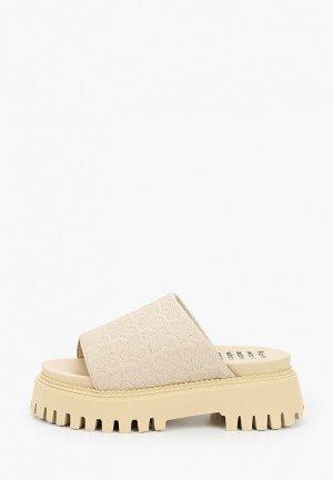 Сабо Bronx Groovy Sandal. Цвет: бежевый