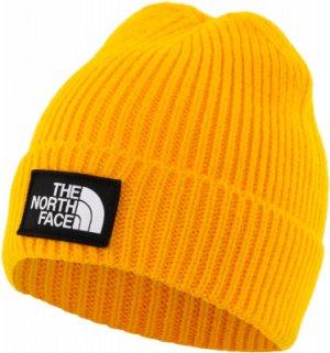 Шапка Logo Box Cuffed Beanie The North Face. Цвет: желтый