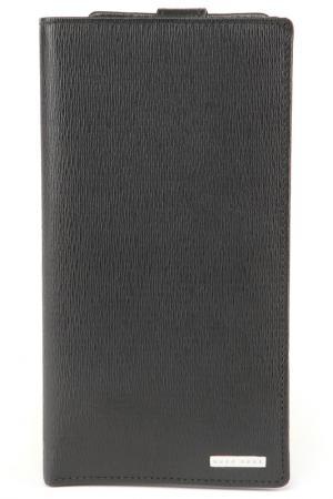 Визитница-бумажник Hugo Boss Black. Цвет: черный