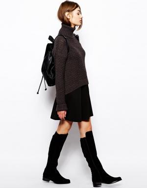 Пышная юбка из двойного трикотажа BZR. Цвет: черный