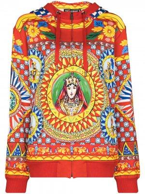 Худи Caretto с принтом Dolce & Gabbana. Цвет: красный