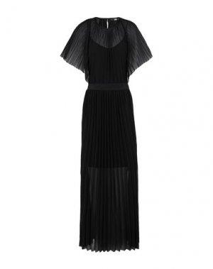 Длинное платье KARL LAGERFELD. Цвет: черный