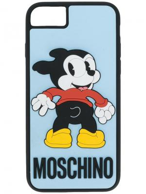 Чехол для iPhone 6/7s Vintage Mickey Moschino. Цвет: синий