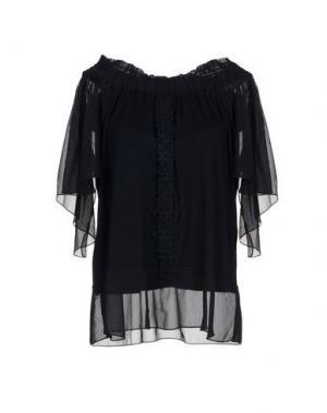 Блузка ELIE TAHARI. Цвет: темно-синий