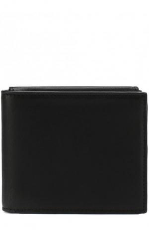 Кожаное портмоне с отделениями для кредитных карт Ann Demeulemeester. Цвет: черный
