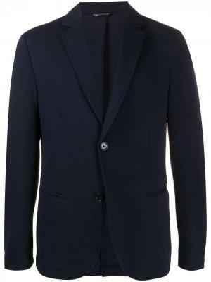 Двухцветный однобортный пиджак Daniele Alessandrini. Цвет: синий