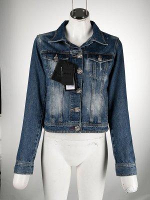 Джинсовая куртка с логотипом Philipp Plein. Цвет: синий
