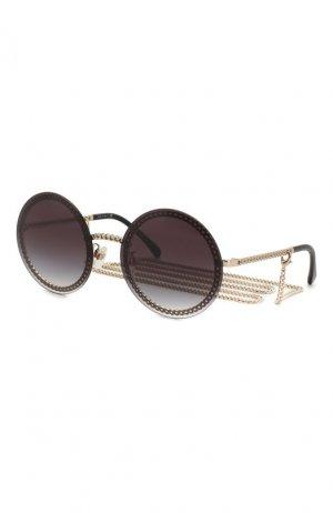 Солнцезащитные очки Chanel. Цвет: чёрный