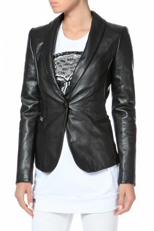 Кожаная куртка Philipp Plein. Цвет: 02 black