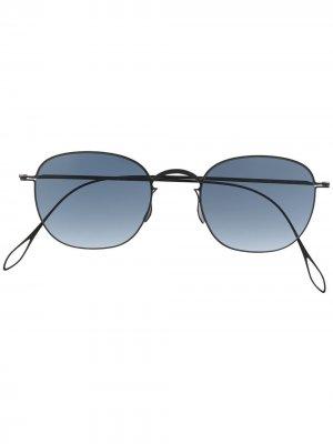Солнцезащитные очки Fender в круглой оправе Haffmans & Neumeister. Цвет: черный