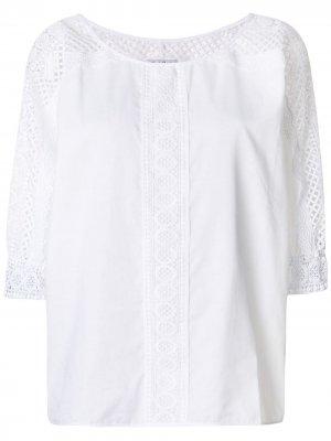 Блузка с рукавами в сетку Charo Ruiz Ibiza. Цвет: белый