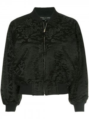 Куртка-бомбер с узором Comme Des Garçons Pre-Owned. Цвет: черный