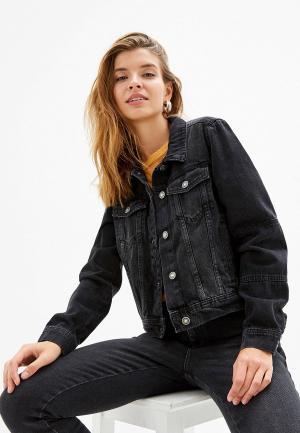 Куртка джинсовая Free People. Цвет: черный