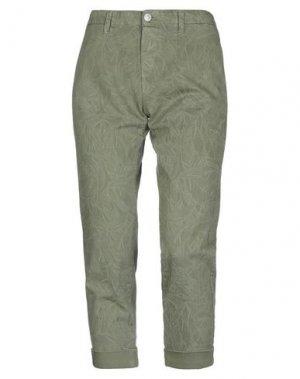 Джинсовые брюки CARE LABEL. Цвет: зеленый