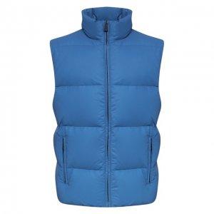 Пуховый жилет KNT. Цвет: синий