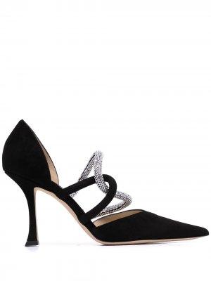 Туфли с кристаллами Jimmy Choo. Цвет: черный