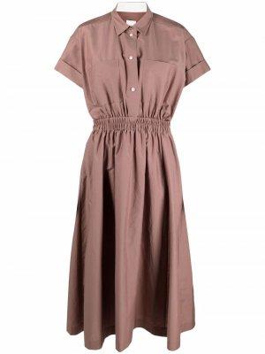 Платье-рубашка с короткими рукавами PAUL SMITH. Цвет: нейтральные цвета