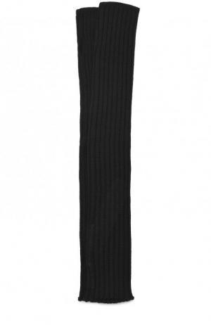 Шерстяные рукава Rick Owens. Цвет: черный