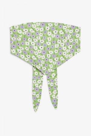 Топ-платок Monki. Цвет: белый, зеленый, фиолетовый, разноцветный