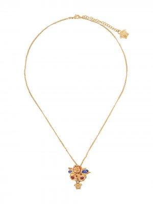 Цепочка на шею с декором Medusa Versace. Цвет: золотистый