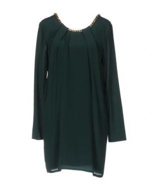 Короткое платье ELLA LUNA. Цвет: темно-зеленый