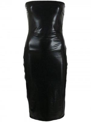 Платье без бретелей Norma Kamali. Цвет: черный