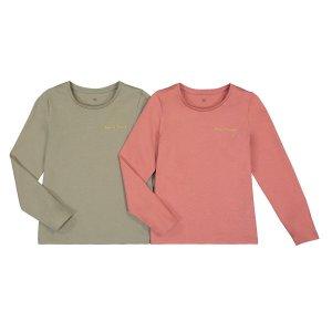 Комплект из 2 футболок LaRedoute. Цвет: розовый