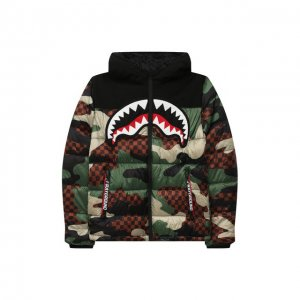 Куртка с капюшоном Sprayground. Цвет: чёрный