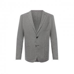 Шерстяной пиджак Altea. Цвет: серый