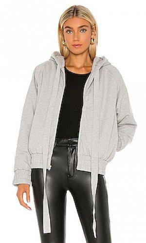 Куртка hooded bomber Norma Kamali. Цвет: серый