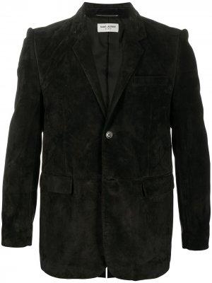 Пиджак с декоративной строчкой Saint Laurent. Цвет: черный
