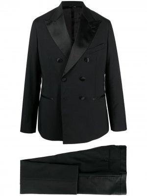 Костюм с двубортным пиджаком Reveres 1949. Цвет: черный