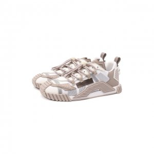 Комбинированные кеды NS1 Dolce & Gabbana. Цвет: бежевый