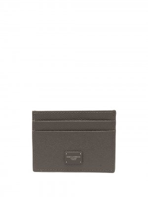 Картхолдер с логотипом Dolce & Gabbana. Цвет: коричневый
