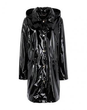 Легкое пальто DONNA KARAN. Цвет: черный