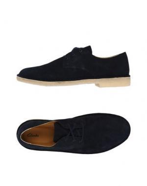 Обувь на шнурках CLARKS. Цвет: темно-синий