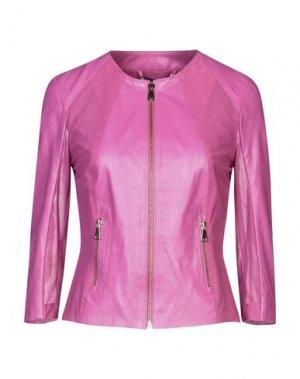 Куртка SANDRO FERRONE. Цвет: фуксия